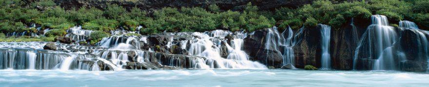 Изображение для стеклянного кухонного фартука, скинали: водопад, река, vodopad003