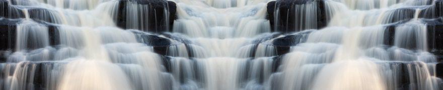 Изображение для стеклянного кухонного фартука, скинали: водопад, vodopad006
