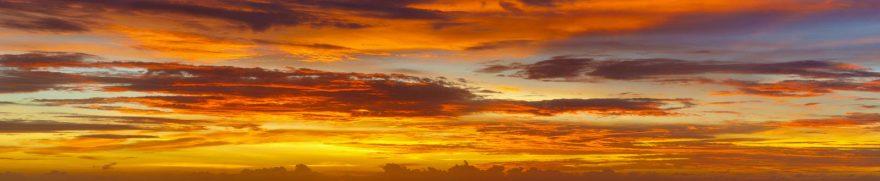 Изображение для стеклянного кухонного фартука, скинали: закат, облака, zakrass005