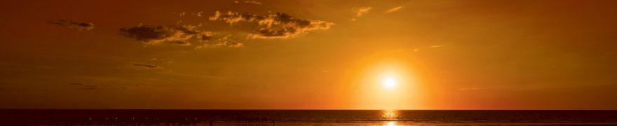 Изображение для стеклянного кухонного фартука, скинали: закат, небо, море, zakrass006