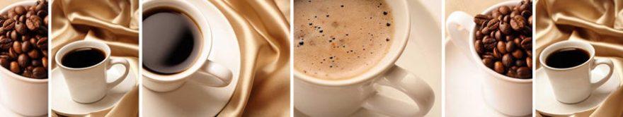 Изображение для стеклянного кухонного фартука, скинали: посуда, коллаж, кофе, кружка, fartux1235