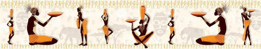 Изображение для стеклянного кухонного фартука, скинали: люди, африка, fartux1312