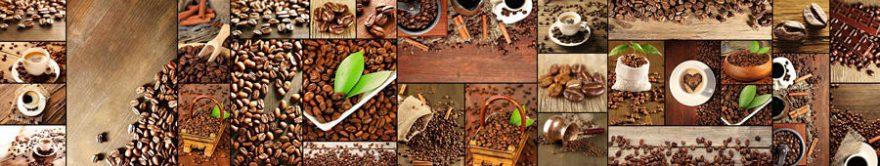 Изображение для стеклянного кухонного фартука, скинали: коллаж, кофе, кружка, fartux1406