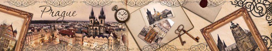 Изображение для стеклянного кухонного фартука, скинали: коллаж, город, архитектура, картина, fartux1506