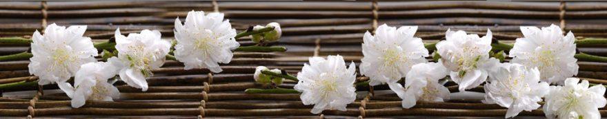 Изображение для стеклянного кухонного фартука, скинали: цветы, fartux1600