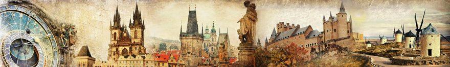 Изображение для стеклянного кухонного фартука, скинали: коллаж, город, архитектура, fartux1817