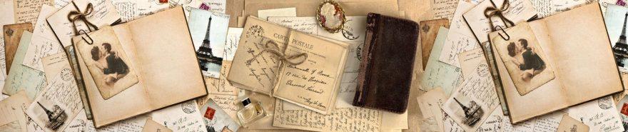 Изображение для стеклянного кухонного фартука, скинали: открытки, письмо, винтаж, fartux615