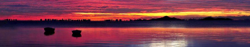 Изображение для стеклянного кухонного фартука, скинали: закат, озеро, fartux632