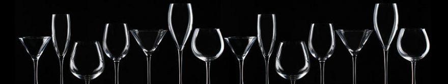 Изображение для стеклянного кухонного фартука, скинали: бокал, fartux639