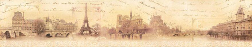 Изображение для стеклянного кухонного фартука, скинали: город, архитектура, винтаж, париж, fartux778