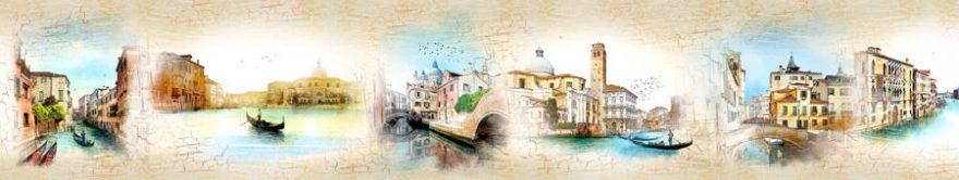 Изображение для стеклянного кухонного фартука, скинали: коллаж, город, италия, fartux821