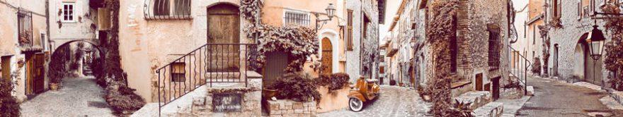 Изображение для стеклянного кухонного фартука, скинали: город, улица, италия, fartux871