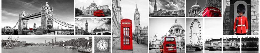 Изображение для стеклянного кухонного фартука, скинали: коллаж, город, лондон, gorsovr013
