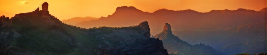 Изображение для стеклянного кухонного фартука, скинали: закат, горы, goryimg004