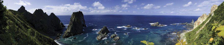 Изображение для стеклянного кухонного фартука, скинали: море, горы, morokea015