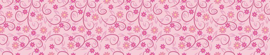 Изображение для стеклянного кухонного фартука, скинали: цветы, паттерн, орнамент, patneit038
