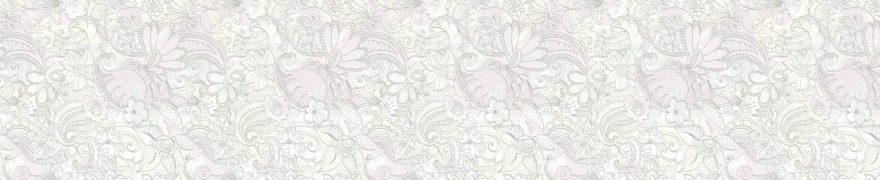 Изображение для стеклянного кухонного фартука, скинали: цветы, орнамент, patsvet005