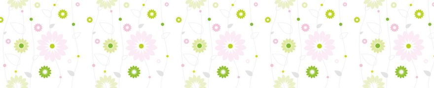 Изображение для стеклянного кухонного фартука, скинали: цветы, паттерн, орнамент, patsvet009