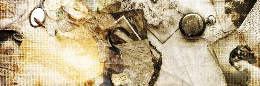 Изображение для стеклянного кухонного фартука, скинали: коллаж, жемчуг, письмо, фото, винтаж, skinap107