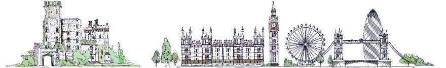 Изображение для стеклянного кухонного фартука, скинали: город, архитектура, дом, skinv19