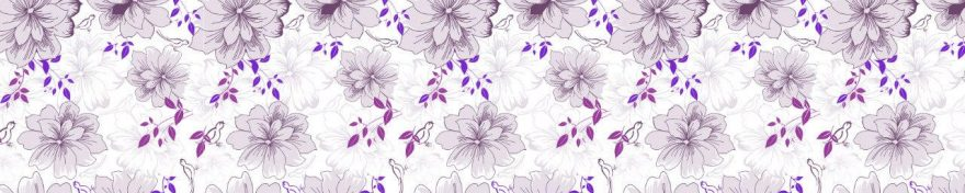 Изображение для стеклянного кухонного фартука, скинали: цветы, skinv41