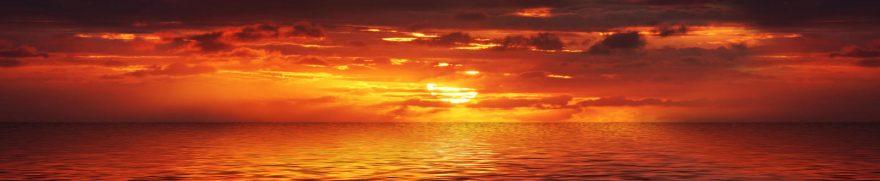 Изображение для стеклянного кухонного фартука, скинали: закат, море, zakrass001